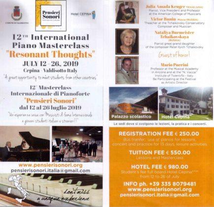 12th edizione della masterclass di pianoforte
